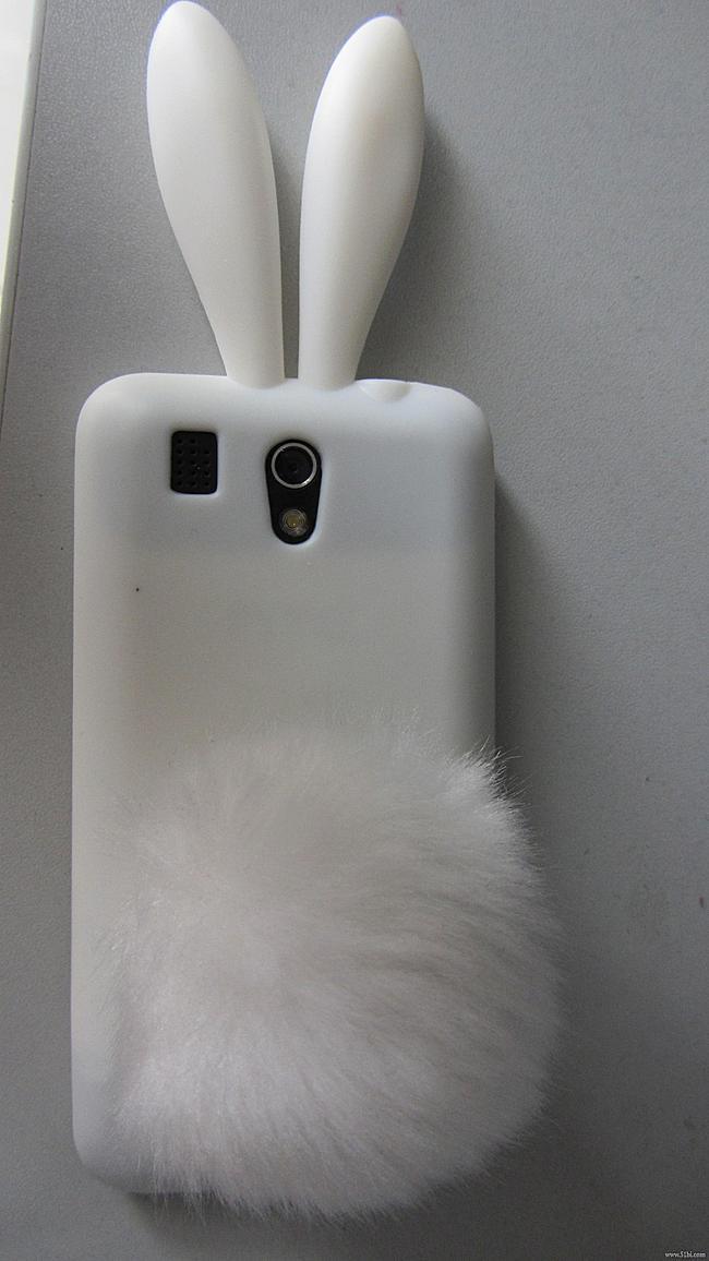 满意的手机套,不满意的服务 白色的G6兔耳朵套