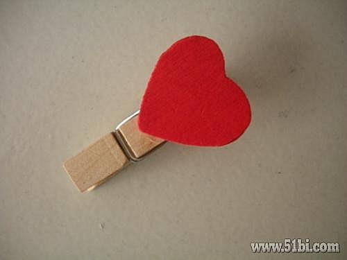 可爱红心迷你书夹子