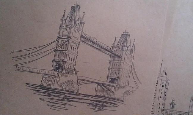 复古牛皮纸信纸 ----欧洲建筑系列