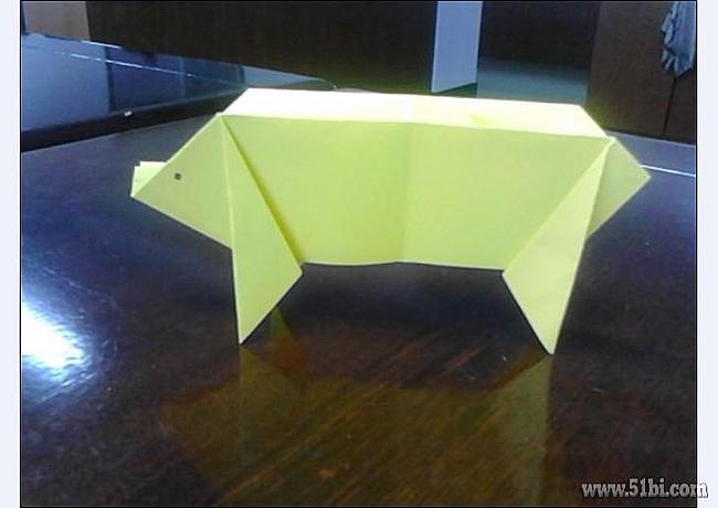 分享幼儿折纸,快乐的小猪