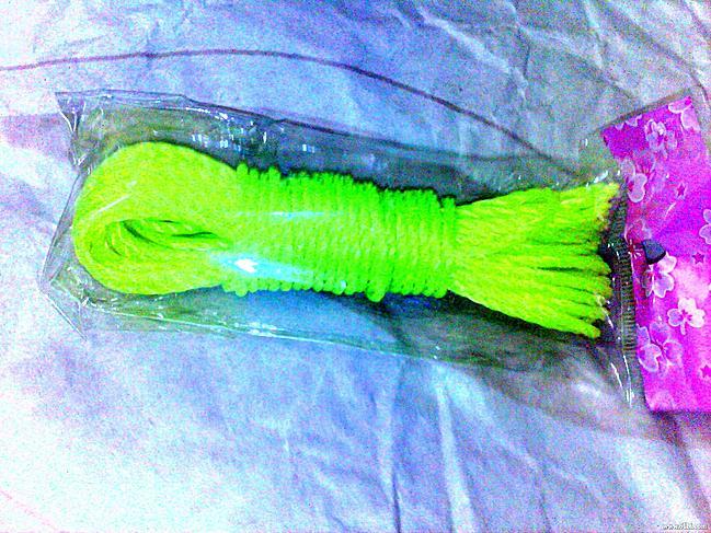 晾衣服绳-1.52元满88元免运费 36 5米彩色晒衣绳 晾衣绳 捆绑绳 纺织绳