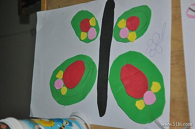 海绵纸贴画花展示