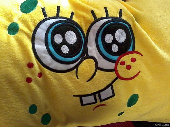 可爱的海绵宝宝枕头——坏笑款