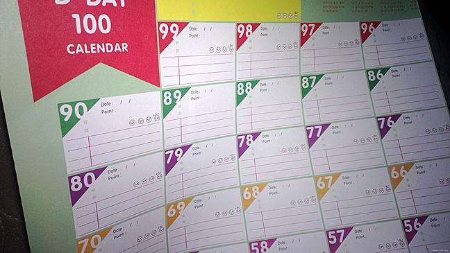 【申精】我的100天减肥计划表