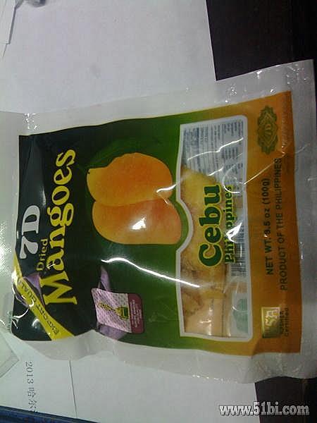 包邮 菲律宾特产零食品 新包装100 保证正品 超好吃7d芒果干100g