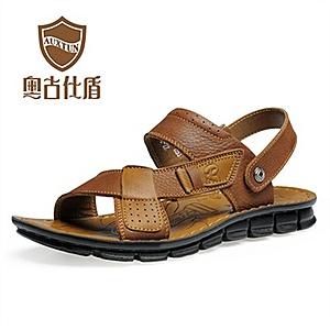 古仕盾/简约鞋头采用优质头层软牛皮制作,平滑舒适,排汗透气,拼皮...