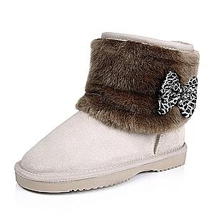 报价 雪地靴/百思图的鞋子价格一向都不便宜,大品牌,做工确实好,这款雪地...