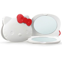 HELLO KITTY 凯蒂猫 便携随身化妆镜 白色【已结束】
