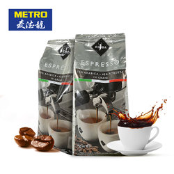 意大利进口RIOBA瑞吧银装咖啡豆1kg*2 199元(209-10元券)