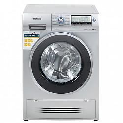 西门子(SIEMENS) XQG75-WD15H5681W 7.5公斤 洗烘一体变频 滚筒洗衣机 3D空气冷凝 LCD液晶显示屏(银色)