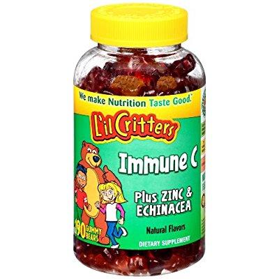 L'il Critters 维生素C+锌+紫锥菊小熊软糖