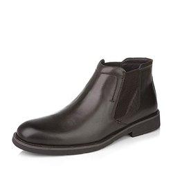 Bata/拔佳冬季专柜同款啡色牛皮男靴218-2DD5