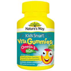 佳思敏nature's way omega3+复合维生素软糖 50粒/瓶