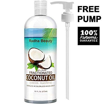 100%纯分馏椰子油,16盎司