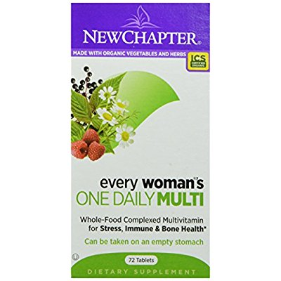 New Chapter 新章 每日一片系列 女性综合有机维生素片,72 count