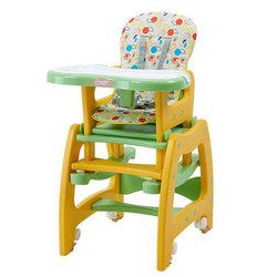 萌宝(Cutebaby)儿童餐椅宝宝婴儿餐椅吃饭餐椅黄绿色