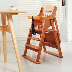 木巴 便携可折叠实木儿童餐椅    169元包邮