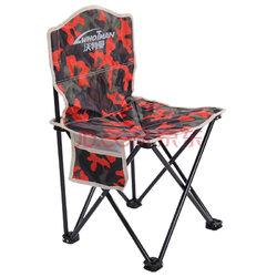 沃特曼Whotman 便携式折叠椅小凳子钓鱼椅户外休闲马扎沙滩椅38x38x65cm 中号 WY1324迷彩红24.5元