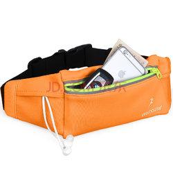 WELLHOUSE 运动腰包 跑步腰包户外锻炼健身瑜伽贴身腰包 亮橙