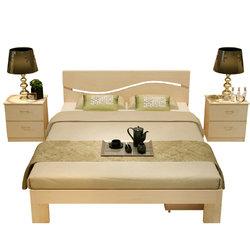 宜宸 实木双人床 带床垫 1.5*2m    569元包邮(需用券)