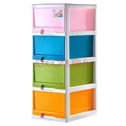 【某东超市】禧天龙Citylong 塑料收纳柜储物柜抽屉式四层儿童衣物玩具整理层柜 彩色72L 5021249元