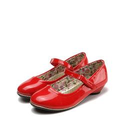 SHOEBOX 鞋柜女童春季纯色亮皮低跟单鞋   29元包邮