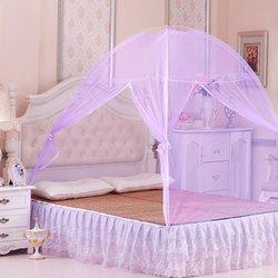 优衣库家纺   简易可携带免安装蚊帐(紫色1.8米床)