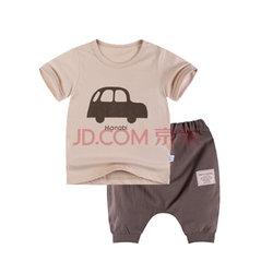 跃童莱 男童短袖T恤哈伦裤套装49元已降30元