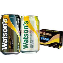 Watsons 屈臣氏 苏打水混合系列(苏打汽水20听 + 柠檬草味苏打汽水4听)330ml*24听 整箱82.9元