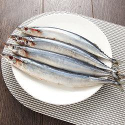 1号生鲜简单滋味秋刀鱼450g 3-4条