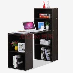 彭友家私 简约时尚多功能电脑桌书桌 笔记本电脑桌 黑胡桃色 PY-DK62