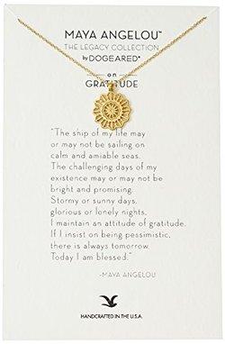 Dogeared 朵吉兒 Maya Angelou 银质镀金Gratitute感恩项链【已结束】