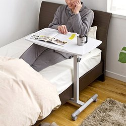 SANWA SUPPLY 山业 学生桌 床边桌 笔记本升降多功能桌