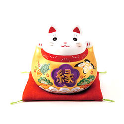 药师窑 7470/7471  锦彩 福梦金福 招福猫储蓄罐 小号(高约10cm)