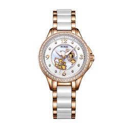 BUREI 宝梭 S-13022L 防水陶瓷 女士石英手表