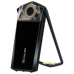 卡西欧(CASIO)EX-TR750 美颜自拍 数码相机 (3.5英寸大屏、双LED灯,天使之眼)静谧黑