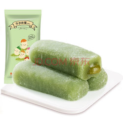 【京东超市】良品铺子 爆浆手造麻薯 传统糕点点心 零食特产小吃 抹茶味150g