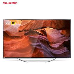 夏普 (SHARP) LCD-70DS8008A 70英寸4K超高清 人工智能语音液晶平板电视机9399元