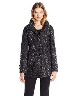 中亚prime会员,限XS码:Kenneth Cole Tweed 女士羊毛混纺大衣    223.62元