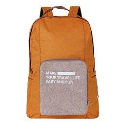 凯速 短途旅行 纯色男女 折叠双肩包 手提行李包 大容量 出差登机 衣物收纳包 行李箱可挂 Ib4 (橘色)