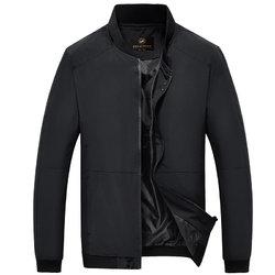 富贵鸟 FUGUINIAO 男装修身夹克男薄款立领上衣商务休闲外套 16014FG9888(黑色 XXL)