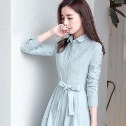 Anyshion/ 安尼纯  长袖衬衫连衣裙  56元(126元,双重优惠)
