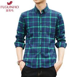 Fuguiniao 富贵鸟 男士长袖衬衫