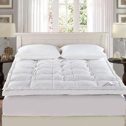 霞珍 全棉70%白鸭绒加厚保暖床褥 双人1.5米床【已结束】