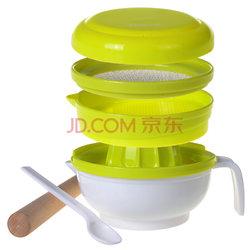 亲亲我(kidsme)婴儿辅食研磨器多功能料理研磨碗7件套(绿色)35元