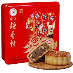 华北:北京稻香村 玉兔纳福(广式五仁) 中秋月饼礼盒440g