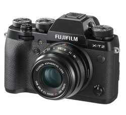 FUJIFILM 富士 X-T2 无反相机套机(XF35mm f/2镜头)    11989元包邮