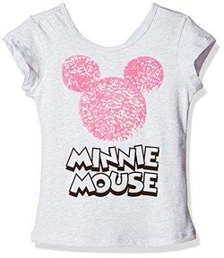 Disney 迪士尼童装 Mickey & Minnie 女童 T恤 KVM7M1KTKG2510 浅花灰色 140【已结束】