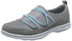 Skechers 斯凯奇 GO STEP系列 女 轻质橡筋鞋 14332-GYTQ8 灰色/青绿色 38 (US 8)(亚马逊自营商品, 由供应商配送)【已结束】