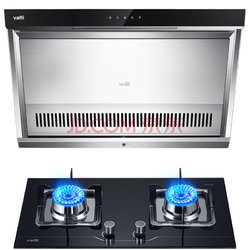 VATTI 华帝 免拆洗 侧吸式抽油烟机(天然气) CXW-200-i11050+燃气灶JZT-i10008B